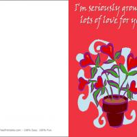 Printable Heart Plant - Printable Greeting Cards - Free Printable Cards