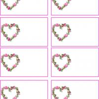 Printable Heart Shaped Flowers - Printable Name Tags - Misc Printables
