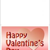 Printable Heart With Happy Valentine's Day - Printable Valentines - Free Printable Cards