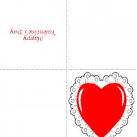 Printable Heart With Lace - Printable Valentines - Free Printable Cards