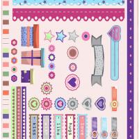Printable Hearts & Stars Scrapbook - Printable Scrapbook - Free Printable Crafts