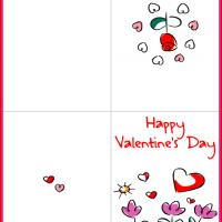 Printable Hearts and Flowers - Printable Valentines - Free Printable Cards