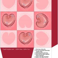 Printable Hearts Gift Bag - Printable Templates - Free Printable Activities