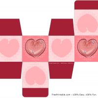 Printable Hearts Gift Box - Printable Templates - Free Printable Activities