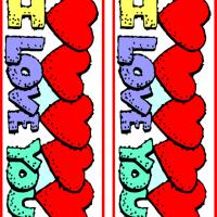 Hearts I Love You Bookmarks