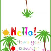Printable Hello How's Summer? - Printable Greeting Cards - Free Printable Cards