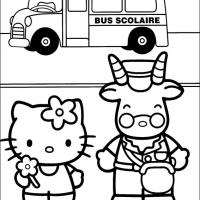 Printable Hello Kitty and Chauffeur - Printable Hello Kitty - Free Printable Coloring Pages
