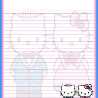 Printable Hello Kitty and Dear Daniel - Printable Stationary - Free Printable Activities