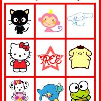 Hello Kitty and Friends Bingo Card 1