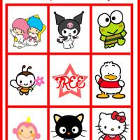 Printable Hello Kitty and Friends Bingo Card 2 - Printable Bingo - Free Printable Games