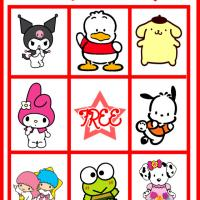 Printable Hello Kitty and Friends Bingo Card 3 - Printable Bingo - Free Printable Games
