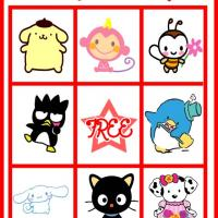 Printable Hello Kitty and Friends Bingo Card 4 - Printable Bingo - Free Printable Games