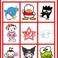 Printable Hello Kitty and Friends Bingo Card 5 - Printable Bingo - Free Printable Games