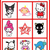 Printable Hello Kitty and Friends Bingo Card 6 - Printable Bingo - Free Printable Games