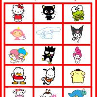 Printable Hello Kitty and Friends Bingo Tiles - Printable Bingo - Free Printable Games