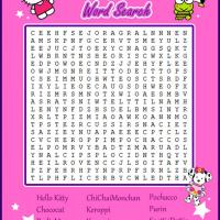 Printable Hello Kitty and Friends Word Search - Printable Word Search - Free Printable Games