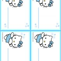 Hello Kitty Blue Name Tags
