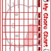 Printable Hello Kitty Chore Chart - Printable Chore Charts - Free Printable Activities