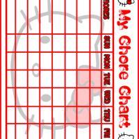 Hello Kitty Chore Chart