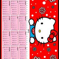 Printable Hello Kitty Dots and Flowers 2012 Calendar - Printable Yearly Calendar - Free Printable Calendars
