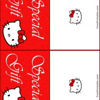 Printable Hello Kitty Gift Card - Printable Gift Cards - Free Printable Cards
