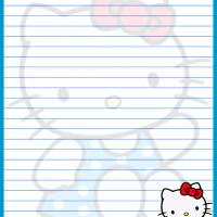 Printable Hello Kitty in Dotted Dress - Printable Stationary - Free Printable Activities