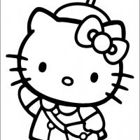 Printable Hello Kitty In Uniform - Printable Hello Kitty - Free Printable Coloring Pages