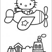 Hello Kitty on a Plane