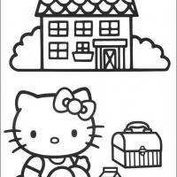 Printable Hello Kitty Picnic Time - Printable Hello Kitty - Free Printable Coloring Pages