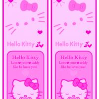 Printable Hello Kitty Pink Bookmark - Printable Bookmarks - Free Printable Crafts