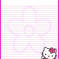 Printable Hello Kitty Pink Flower Stationery - Printable Stationary - Free Printable Activities
