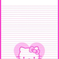 Printable Hello Kitty Pink Heart - Printable Stationary - Free Printable Activities