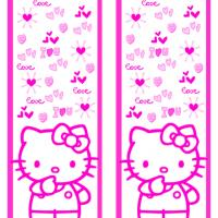 Printable Hello Kitty Pink Love Bookmark - Printable Bookmarks - Free Printable Crafts