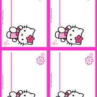 Hello Kitty Pink Name Tag