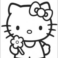 Printable Hello Kitty Pose - Printable Hello Kitty - Free Printable Coloring Pages