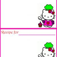 Printable Hello Kitty Recipe Card - Printable Recipe Cards - Misc Printables