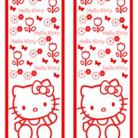 Printable Hello Kitty Red Flowers Bookmark - Printable Bookmarks - Free Printable Crafts