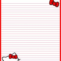 Printable Hello Kitty Ribbons - Printable Stationary - Free Printable Activities