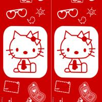 Printable Hello Kitty Stamps Bookmark - Printable Bookmarks - Free Printable Crafts