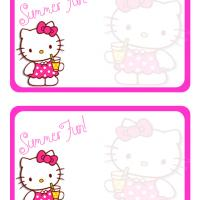 Printable Hello Kitty Summer Fun Post Card - Printable Greeting Cards - Free Printable Cards