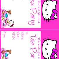 Hello Kitty Tea Party Invitation