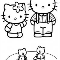 Printable Hello Kitty With Boyfriend Dear Daniel - Printable Hello Kitty - Free Printable Coloring Pages