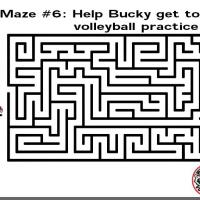 Printable Help Bucky Get To Volleyball Practice - Printable Mazes - Free Printable Games