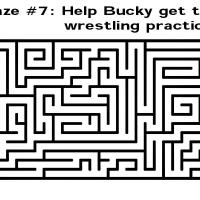 Printable Help Bucky Get To Wrestling Practice - Printable Mazes - Free Printable Games