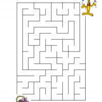 Printable Help Bunny Put His Egg Into The Basket - Printable Mazes - Free Printable Games