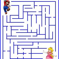 Printable Help Mario Rescue Princess Peach - Printable Mazes - Free Printable Games