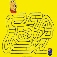 Printable Help Pooh Find The Honey - Printable Mazes - Free Printable Games