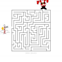 Printable Help Santa Find His Way To The North Pole - Printable Mazes - Free Printable Games