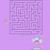 Printable Help The Candle Reach The Birthday Cake Maze - Printable Mazes - Free Printable Games