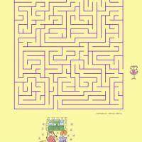 Printable Help The Girl Find Her Way To Her Friends - Printable Mazes - Free Printable Games